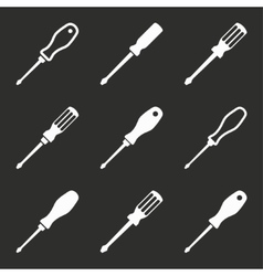 Screwdriver icon set vector