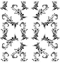 vintage decorative black seamless dama vector image
