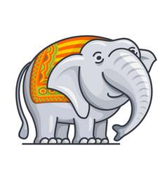 cartoon cute gray elephant vector image