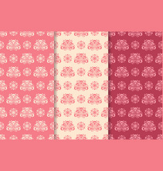 Seamless floral background for textile wallpapers vector