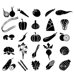 Vegetable icon set vector