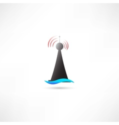 Black antenna vector