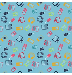 Seamless pattern of digital devices vector