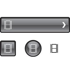 Cinema button set vector