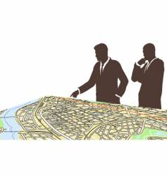 city planners vector image
