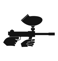 Paintball marker simple icon vector