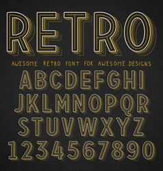Retro Font with shadow vector image