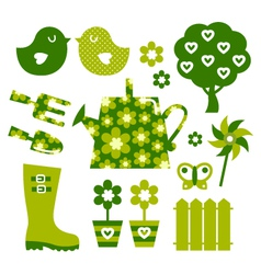 garden objects vector image
