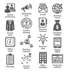 Business management icons pack 12 vector