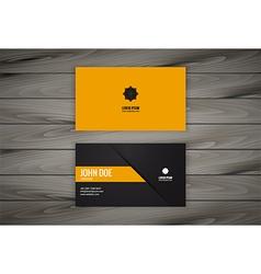 Minimal modern business card design vector image