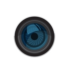Lens for camera icon cartoon style vector