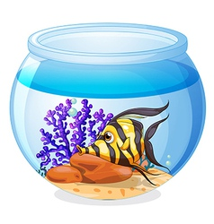 A fish inside the jar vector image