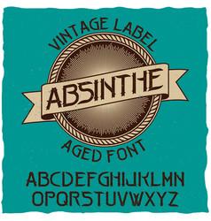 absinthe label font vector image