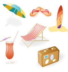 Beach set vector