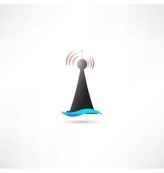 Black antenna vector image vector image