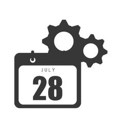 calendar with gears vector image
