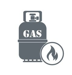 Camping gas container icon vector