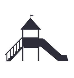 children s slide for playground on white backfit vector image