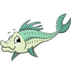 fish cartoon vector image vector image