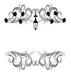 frame flourishes vintage 2 vector image vector image