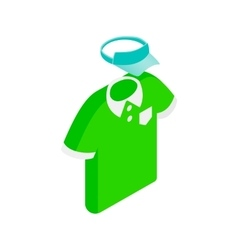 Green man polo shirt and blue cap isometric icon vector image vector image