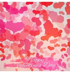 Happy Valentines Day Card Design vector image