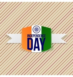 Indian independence day emblem with shadow vector