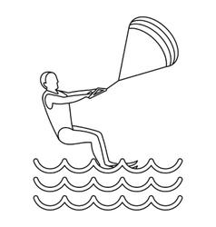 Kitesurfing icon simple style vector