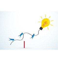 leader with light bulb and team vector image vector image