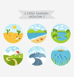Little locations collection 2 vector