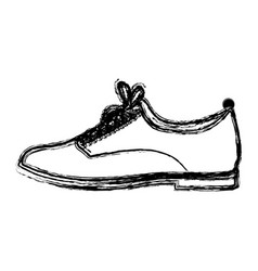 Monochrome blurred contour of male leather shoe vector
