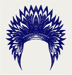 Native american indian headdress vector image vector image