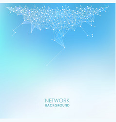 Network abstract background vector image
