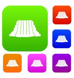 Niagara falls set color collection vector