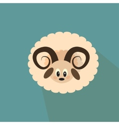 Nice sheep on the blue background vector image vector image