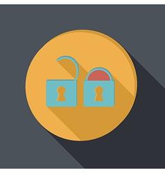 paper flat icon padlock vector image vector image