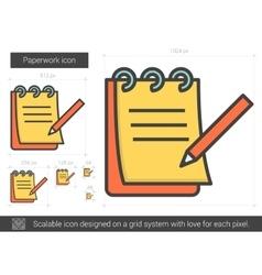 Paperwork line icon vector