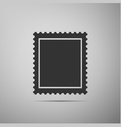 postal stamp icon isolated on grey background vector image