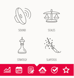 Scales of justice sound and strategy vector