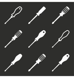 Screwdriver icon set vector image vector image