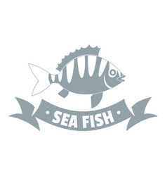 sea fish logo simple gray style vector image