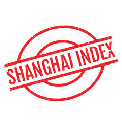 shanghai index rubber stamp vector image