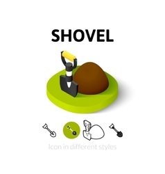 Shovel icon in different style vector image vector image