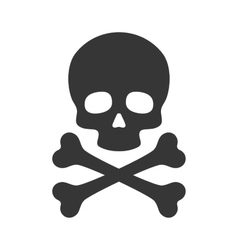 Skull and Crossbones Icon on White Background vector image vector image