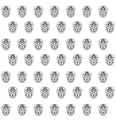 skull drawing tattoo style isolated icon vector image vector image