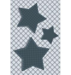 Tartan stylized Stars vector image
