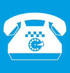 Taxi phone icon white vector