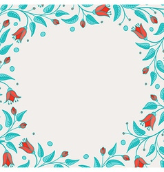 Template for birthday card or invitation vector image vector image