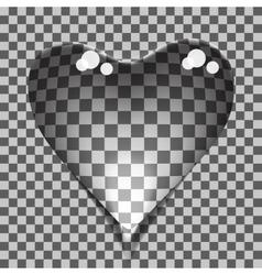 Transparent bubbles heart vector