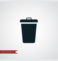 trashcan icon simple vector image